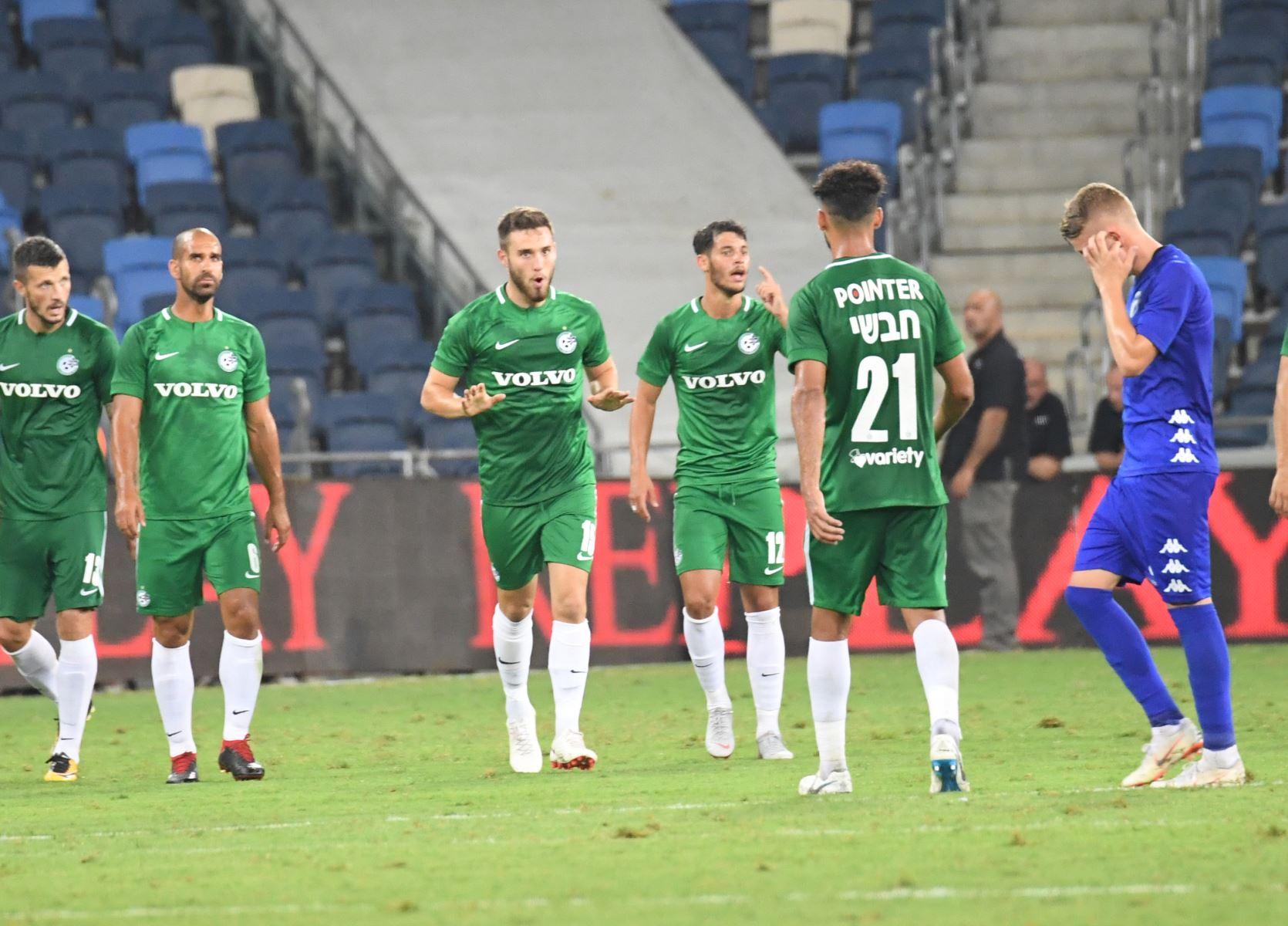 מכבי חיפה מנצחת 2:3 את עירוני קריית שמונה