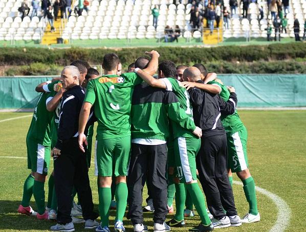 חוגגים את הניצחון מכבי חיפה מכבי נתניה ינואר 2013