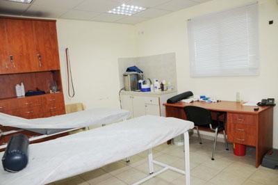 """חדר הטיפולים והמסז'ים בקצף"""". צילום: ראובן כהן"""""""